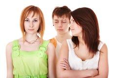 Grupo de personas con los problemas del adolescente. Fotos de archivo