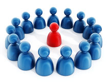Grupo de personas con un líder Imagen de archivo libre de regalías