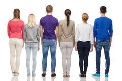 Grupo de personas de la parte posterior Imagenes de archivo
