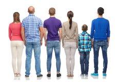 Grupo de personas de la parte posterior Imágenes de archivo libres de regalías