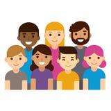 Grupo de personas diverso ilustración del vector