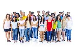 Grupo de personas diverso grande Foto de archivo libre de regalías