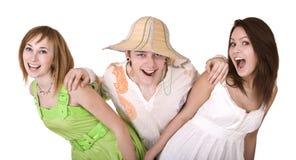 Grupo de personas el vacaciones de verano. Fotografía de archivo