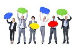 Grupo de personas en la comunicación empresarial Foto de archivo libre de regalías