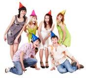 Grupo de personas en partido. Foto de archivo libre de regalías