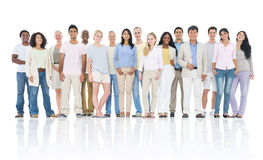 Grupo de personas grande Imagen de archivo libre de regalías