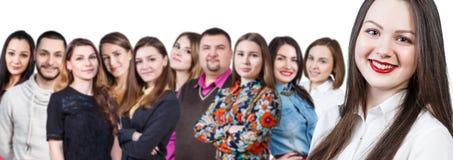 Grupo de personas joven sonriente feliz Imagenes de archivo
