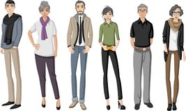 Grupo de personas mayores felices de la historieta libre illustration
