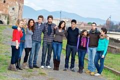 Grupo de personas multicultural foto de archivo