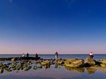 Grupo de pescadores Fotografia de Stock