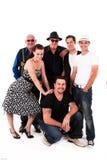 Grupo de pessoas de várias idades imagens de stock royalty free