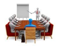 Grupo de pessoas na reunião do mercado Imagem de Stock Royalty Free