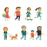 Grupo de pessoas na rua Imagem de Stock Royalty Free