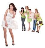 Grupo de pessoas no branco. imagem de stock royalty free