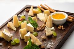Grupo de petiscos do queijo Imagens de Stock