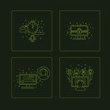 Grupo de pictogramm de símbolos do computador ilustração do vetor