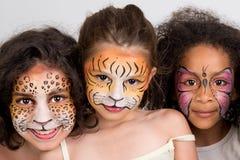 Grupo de pintura da cara Foto de Stock