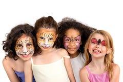 Grupo de pintura de la cara Foto de archivo libre de regalías