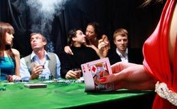 Grupo de póker siniestro Imagen de archivo