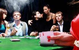 Grupo de póker siniestro Fotografía de archivo