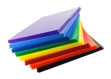 Grupo de plásticos acanalados Imágenes de archivo libres de regalías