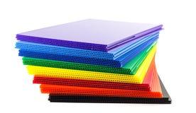 Grupo de plásticos ondulados Fotos de Stock