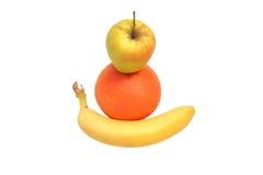 Pomelo del plátano de Apple imágenes de archivo libres de regalías