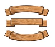 Grupo de placas de madeira ilustração royalty free