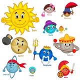 Grupo de planeta de sorriso do sistema solar Imagem de Stock