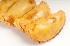 Grupo de plato del latín de los empanadas Foto de archivo libre de regalías