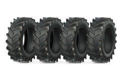 Grupo de pneus do trator Imagem de Stock Royalty Free