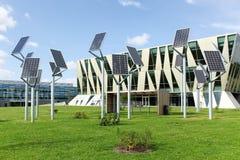 Grupo de polos do painel solar Imagem de Stock