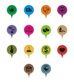 Grupo de ponteiro medicinal da marijuana Imagem de Stock Royalty Free
