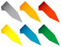 Grupo de ponteiros angulares Fotos de Stock