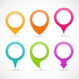 Grupo de ponteiros coloridos do círculo Imagens de Stock