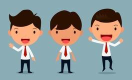 Grupo de poses dos caráteres do homem de negócios, trabalhador de escritório, formulário Imagens de Stock