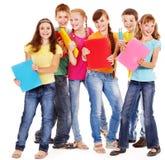 Grupo de povos adolescentes. Imagens de Stock