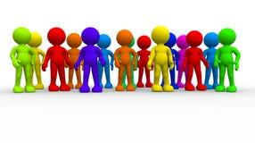 Grupo de povos diferentes Fotos de Stock Royalty Free