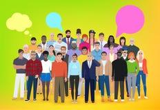 Grupo de povos diferentes, conversação, pensamentos, illust do vetor Fotografia de Stock Royalty Free