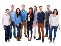 Grupo de povos diversos imagem de stock