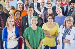 Grupo de povos diversos com ocupações diferentes Fotografia de Stock Royalty Free