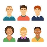 Grupo de povos do avatar do negócio no estilo colorido liso Fotos de Stock