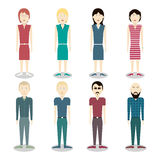 Grupo de povos do vetor Homens e mulheres Imagens de Stock