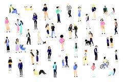 Grupo de povos outdoor Atividades diferentes Eps 10 ilustração stock