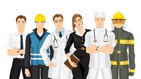Grupo de povos profissionais ilustração stock