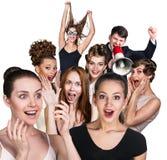 Grupo de povos surpreendidos Foto de Stock