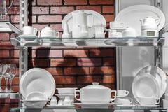 Grupo de pratos de porcelana foto de stock