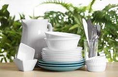 Grupo de pratos limpos foto de stock royalty free