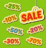 Grupo de preços de madeira Fotografia de Stock