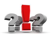 Grupo de preguntas y de exclamación Fotos de archivo